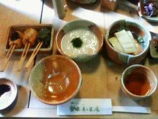 嵯峨野で湯豆腐